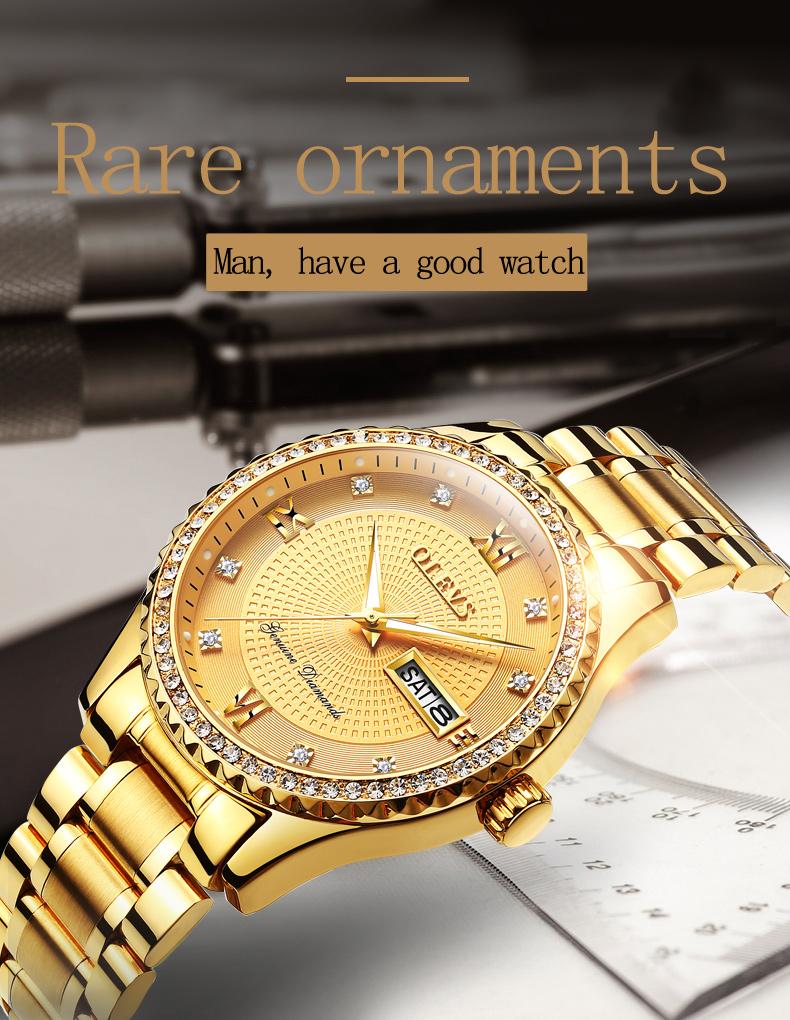 2018 OLEVS Luxury Brand Watch Men's Analog Quartz Auto Date Watches Man Waterproof Clock Men Sport Stainless Steel Wrist Watch 10
