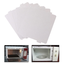 лучшая цена 5Pcs Mica Plates Sheets Microwave Oven Repairing Part 108x99mm Kitchen For Midea