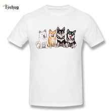Shiba Squad Camiseta New Custom Boy 2018 Unique Design Round Collar Tee Shirt For Casual Top design dog