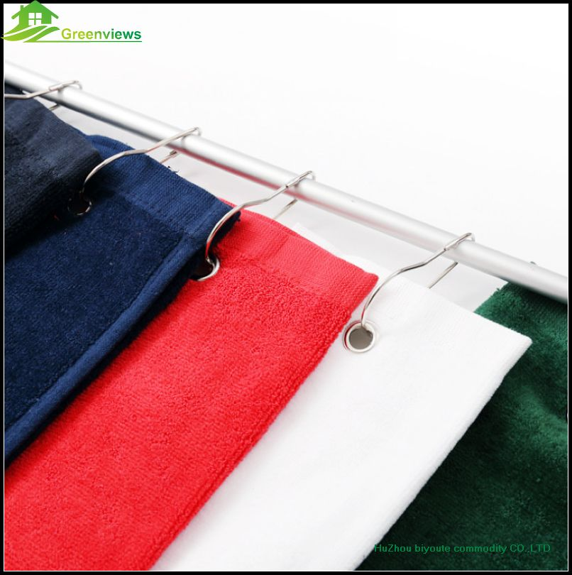 Cotton Golf Towel Size 40cmX60cm with metal hook and five colors for on pear hooks, bag hooks, golf packages, golf shower curtains, golf shower hooks, bathrobe hooks, golf coat hooks, golf bath accessories, key ring hooks, golf curtain hooks, golf soap dispenser, golf towels product, golf club hooks, jewellery hooks, golf tee, golf glove holder, golf fix hooks, jacket hooks, golf towels in bulk,