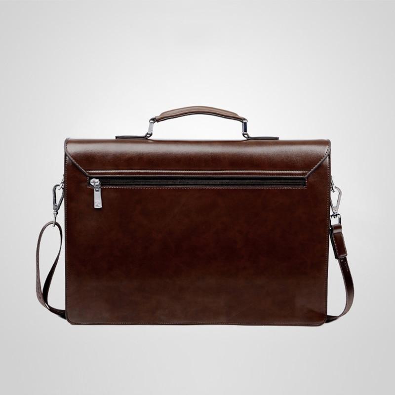 Mens Executive Briefcase Business Male Bag Black Portfolio Tote Bags