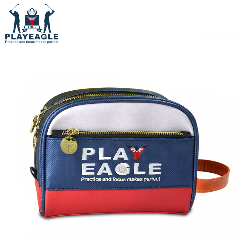 PLAYEAGLE Mini Multifunctional Golf Handbag,Leather Golf Pouch For Golf Tee, Ball,Towel And More Golf Accessories