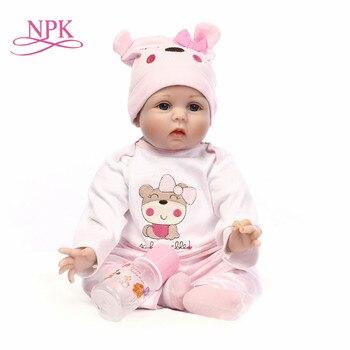 55 センチシリコンリボーンベビードールおもちゃリアルなソフト布ボディ新生児 bebes リボーン人形誕生日プレゼントの女の子 Brinquedos