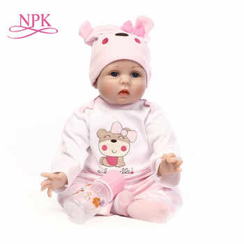 55cm Silicone Reborn Baby Doll Toys Lifelike Soft Cloth body Newborn babies bebes Reborn doll Birthday Gift Girls Brinquedos - DISCOUNT ITEM  54 OFF Toys & Hobbies