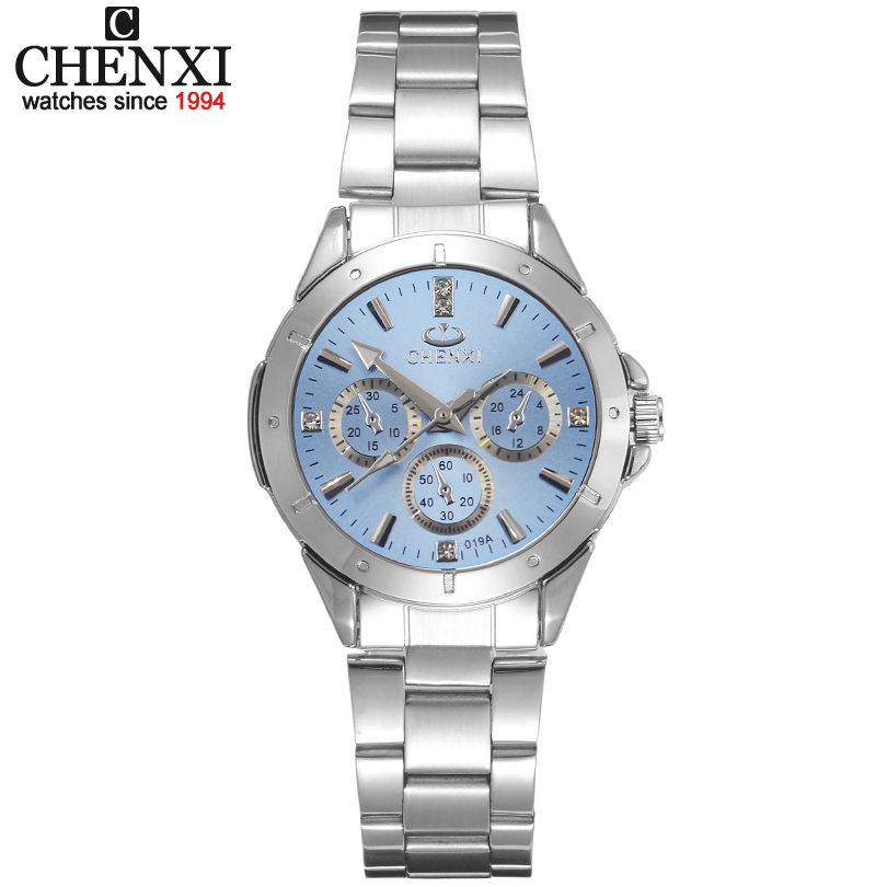 CHENXI Frauen Modeuhren Damen Quarzuhr Frauen Elegantes Kleid Edelstahl Armbanduhren Mädchen Uhr Uhren Mujer