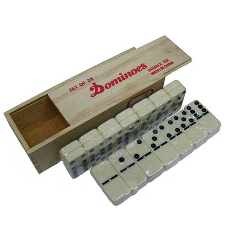 Ensemble, boîte en bois de haute qualité, Double, six dominos 28 pièces, jeu de table pour enfants et adultes, apprentissage et éducation