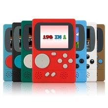 Retro Portable children mini nostalgic handheld video game console 8 Bit Built-in 198 Classic Games Handheld Game Players Player