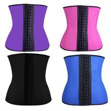 Women Steel Boned Plus Size Latex Waist Trainer Corset