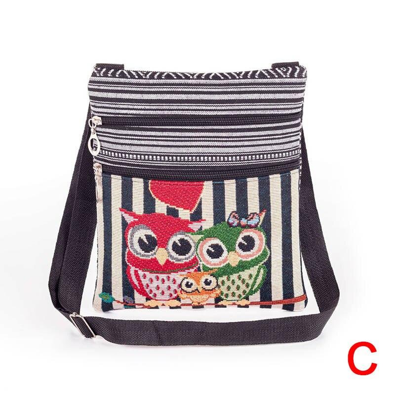 Women Bag 2019 New Fashion Women Lady Shoulder Bag Messenger Owl Embroidered Vintage Crossbody Bags For Women Bolsas Feminina