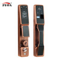 Отпечатков пальцев Автоматическая блокировка RFID Электрический охранных Smart Lock Электронный замок двери идентификации отпечатков пальцев п