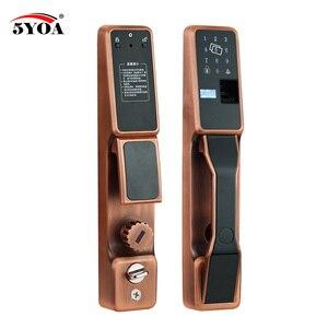 Image 1 - Serrure de sécurité intelligente, RFID automatique par empreintes digitales, serrure de porte électronique, verrouillage coulissant, Identification par empreinte digitale