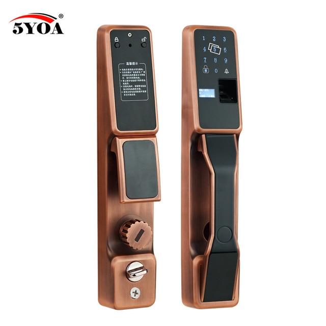 Serrure de sécurité intelligente, RFID automatique par empreintes digitales, serrure de porte électronique, verrouillage coulissant, Identification par empreinte digitale