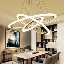 Modern LED living dining room pendant lights suspension luminaire suspendu led ring lighting lamp fixture de techo colgante недорого