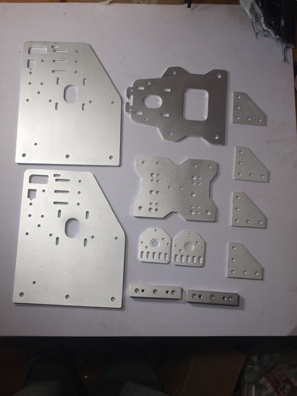 3d printer OX CNC machine parts CNC cut Aluminium Gantry plates kit angle joint plate back X axis/front plate 4-Wheel X Spacer