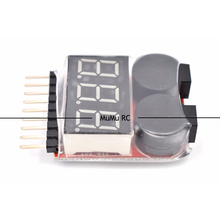 3.7-30V 1-8S Lipo/Li-ion/Fe Battery Voltage 2 IN1 Tester Indicator Low Voltage Buzzer Alarm For RC Quadcopter Multicopter