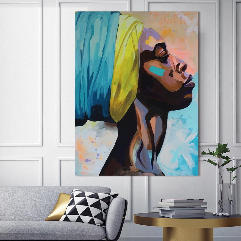 canvas painting figure Picture wall art  Picture portrait  home decor painting abstract  women picuture art poster and prints interior design