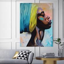 canvas painting figure Picture wall art Picture portrait home decor painting abstract women picuture art poster and prints(China)