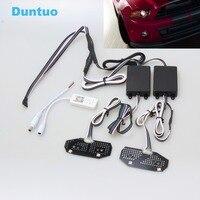 RGBW DRL панели многоцветные светодио дный автомобильные огни ходовые огни беспроводной Bluetooth телефон приложение контроллер для 2013 14 Ford Mustang
