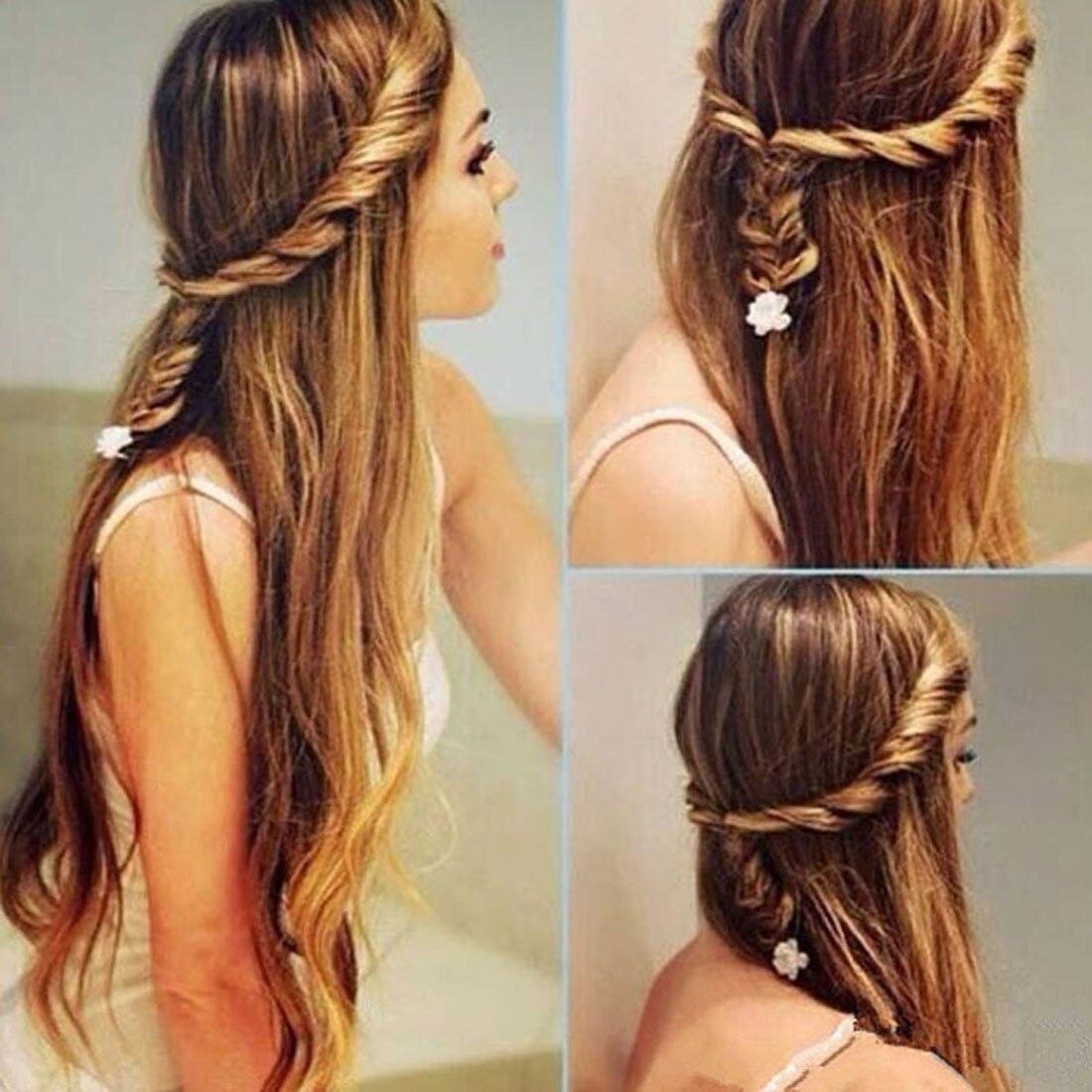 Женская мода цветок Волшебная заколка для волос невесты стилист очередь твист заплетать волосы в косу тесьма DIY Прическа Стайлинг Аксессуары для волос