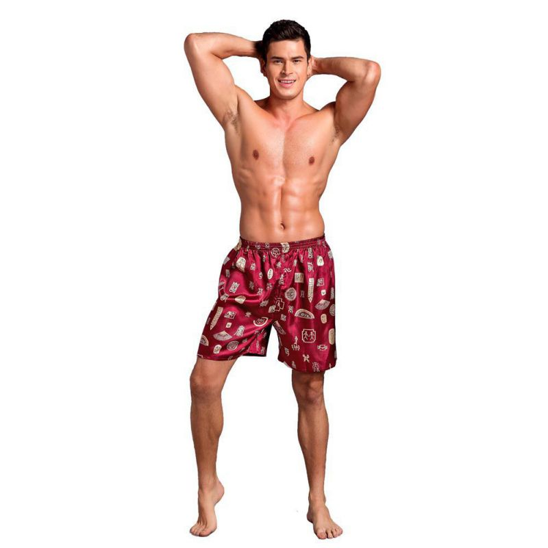 Men's Clothing Humorous Summer Polyester Men Campaign Arrow Pants Mens Built-in Pouch Underwear Men Casual Shorts Trunks Slimming Beach Short Pants