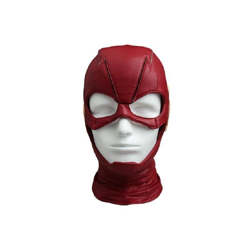 The Flash Season 4 Barry Allen Cosplay Mask Red Helmet Halloween Headpiece Party Masque Cosplay Costume Accessories Custom Made
