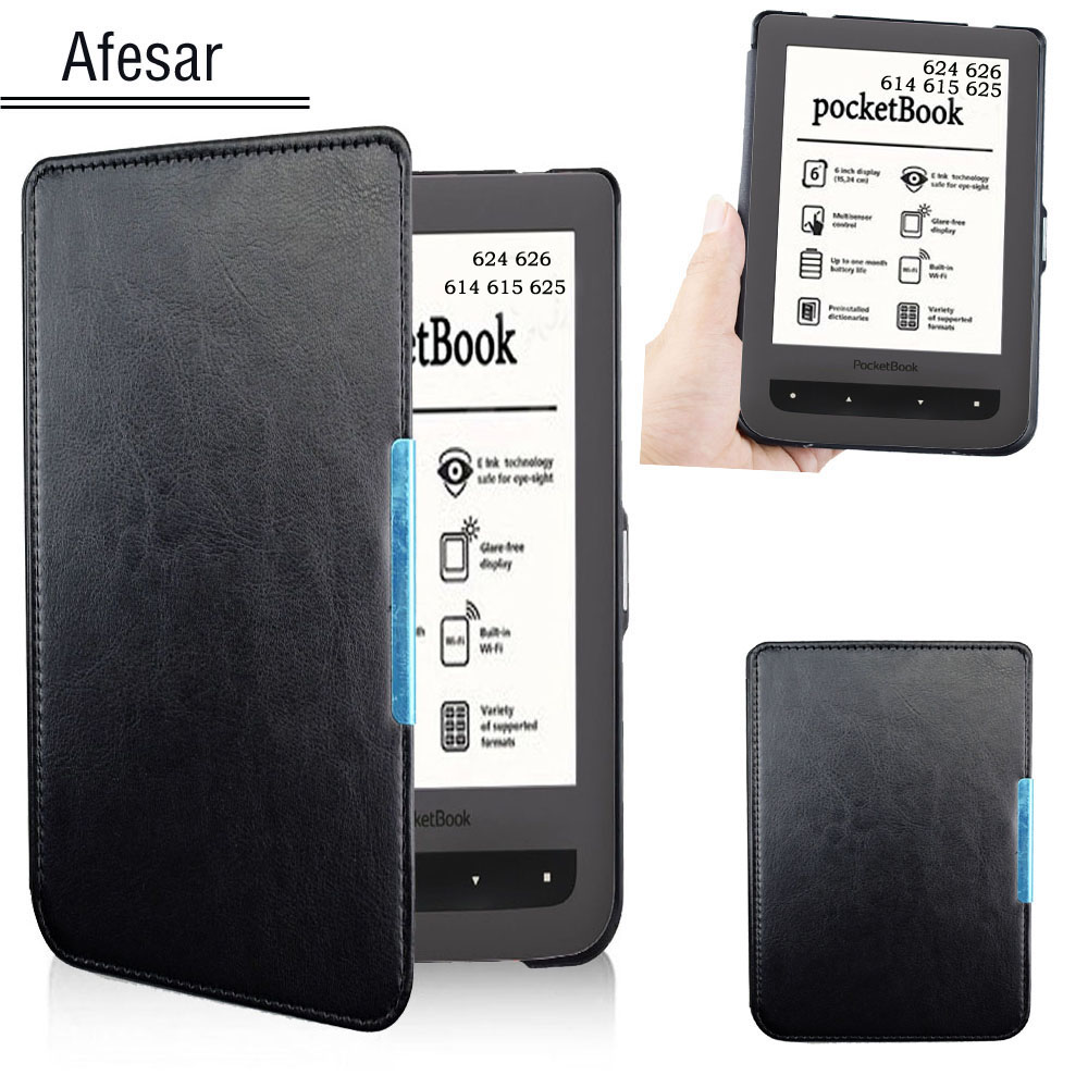For PocketBook 624 626 Case Cover Basic touch Lux 2 eReader pouch leather bag case also Fit Model 614 615 625 pocketBook Cover