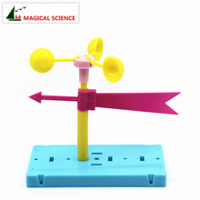MAGICAL SCIENCE Fun physics experiment Homemade Wind vane DIY materials,home school educational kit for your kids students