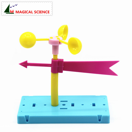 Wholesale Fun Physics Experiment Homemade Wind Vane DIY Materials,home School Educational Kit For Your Kids Students