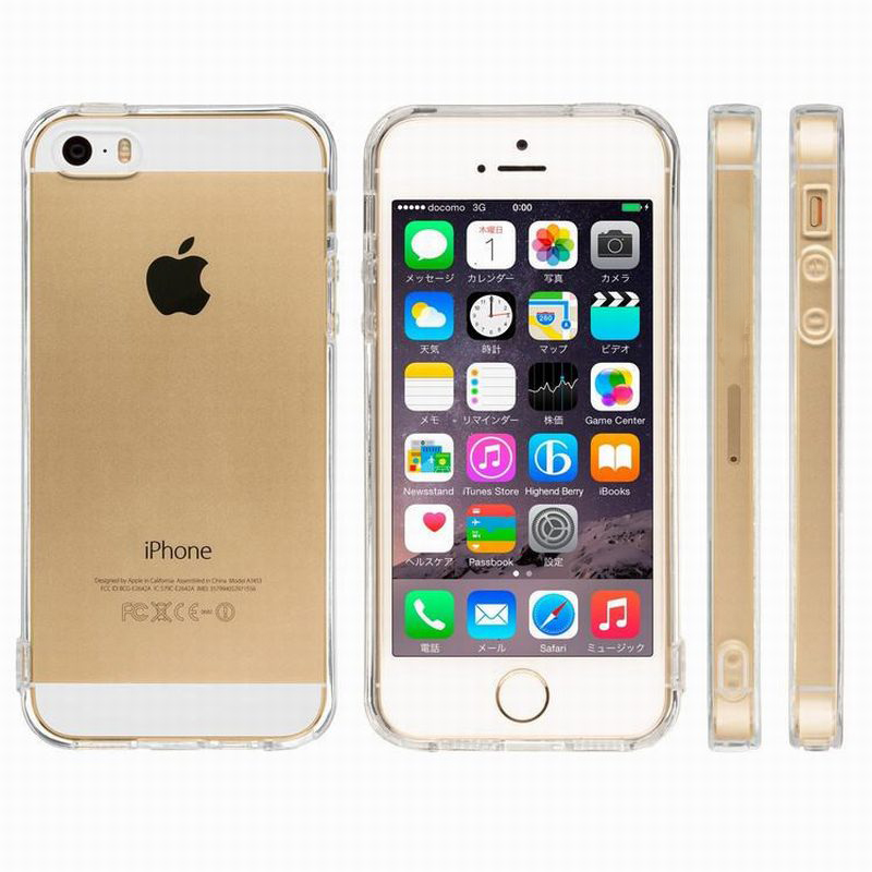iphone 5s accessories portefeuille tpu soft clear fundas anti dust 2499