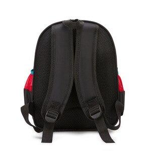 Image 5 - ディズニー車子供のバッグ、学校ミニバックパック少年少女漫画冷凍幼稚園ベビーバッグショルダープライマリ学生バッグ