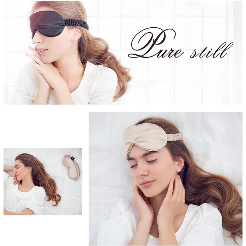 19 Momme Mulberry Silk Sleep Eye Mask & Blindfold with Elastic Strap Soft Eye Cover Eyeshade for Night Sleeping, Travel, Nap 5
