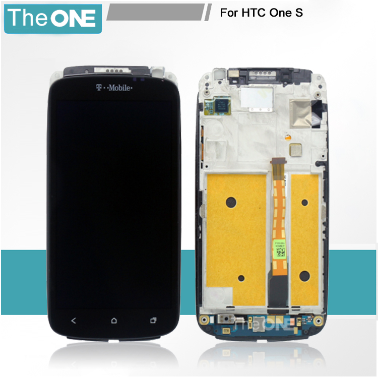 100% Good Quality Full LCD Display Touch Screen Digitizer Assembly + Frame For HTC ONE S Z520e With LOGO Replacement lcd screen display touch panel digitizer with frame for htc one m9 black or silver or gold free shipping