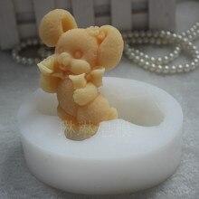 1 шт. милый кролик(zx920) силиконовые формы для мыла ручной работы, поделки, сделай сам