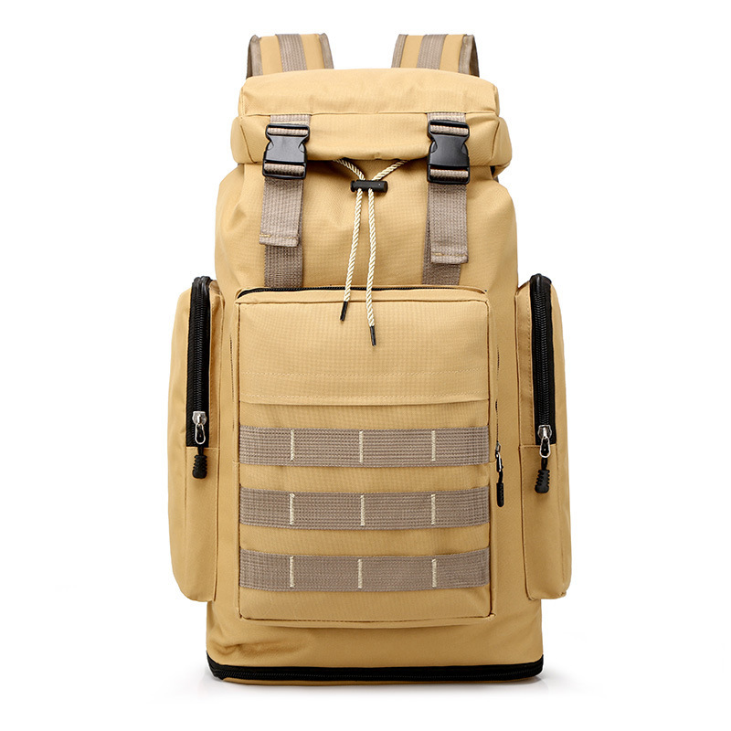 Large Capacity Oxford Cloth Outdoors Travel Waterproof Shoulders Package Male Work Luggage Backpack Mountaineer Military Mochila