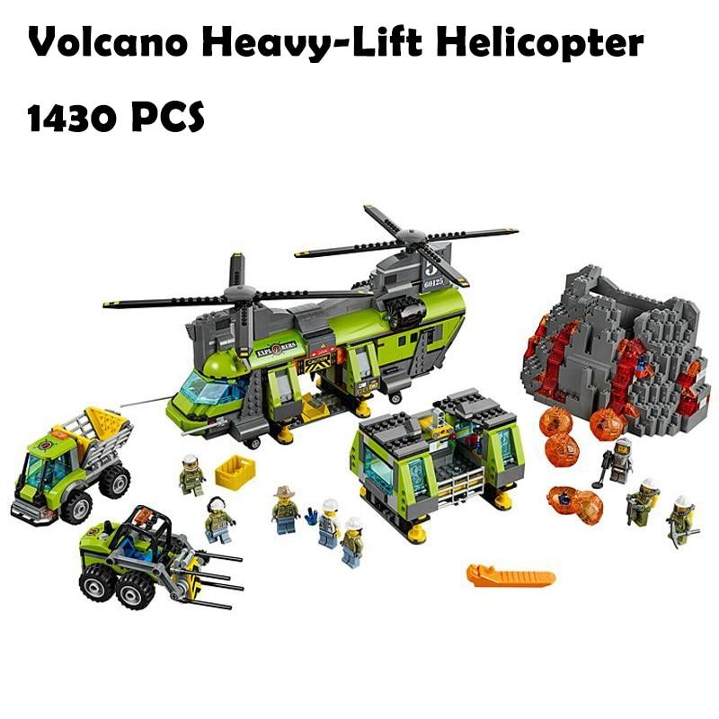 Модель строительные блоки игрушки 02087 1430 шт. тяжеловесных вертолет Совместимо с lego ...