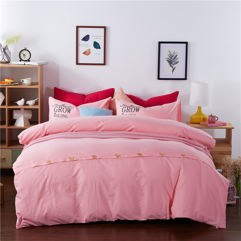 New AB Side Bedding Simple Bedding King Queen Full Twin Bed Linen Sheet Set in Bedspread from Home Garden