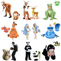 Anime Cosplay for Animal Shark Nemo and Christmas Deer Vestidos Costume for Parent Children Jumpsuit in Halloween Carnaval Party