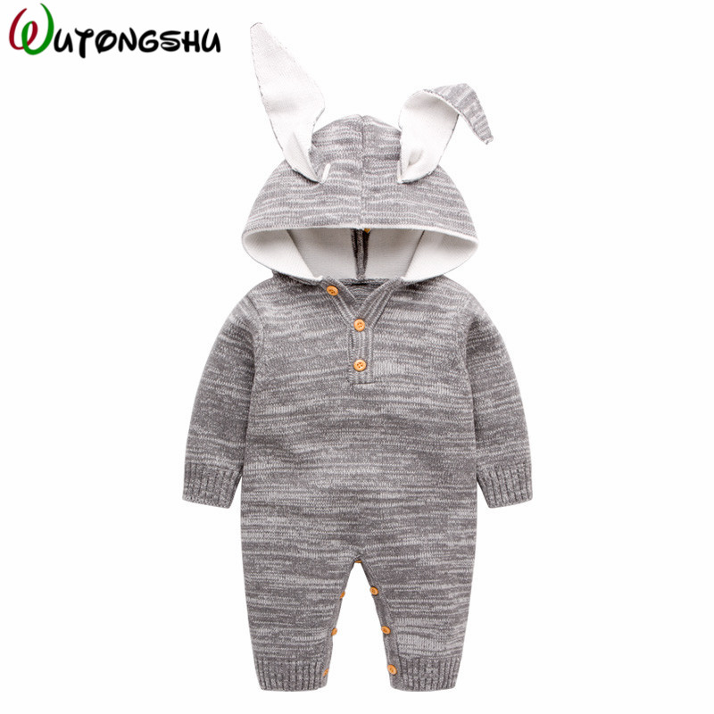 Baby Boy Clothing Cute Winter Warm Newborn Baby Boy Girl Romper Long Sleeve Infant Gift Product Infant Jumpsuits Kids Clothes 2017 baby girl summer romper newborn baby romper suits infant boy cotton toddler striped clothes baby boy short sleeve jumpsuits