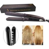 Professional Argan Steam Hair Straightener Flat Iron Injection Painting Straightening Irons Hair Care Styling Tools