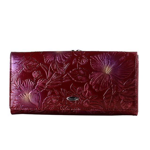 Cossroll Flower Embossing Wallet