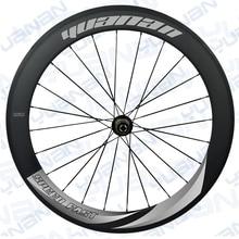 60*25mm wide  pillar 1420  velocity t clincher rims wheel hub assembly 11 speed Carbon fiber wheels 700c spoke choose wheels