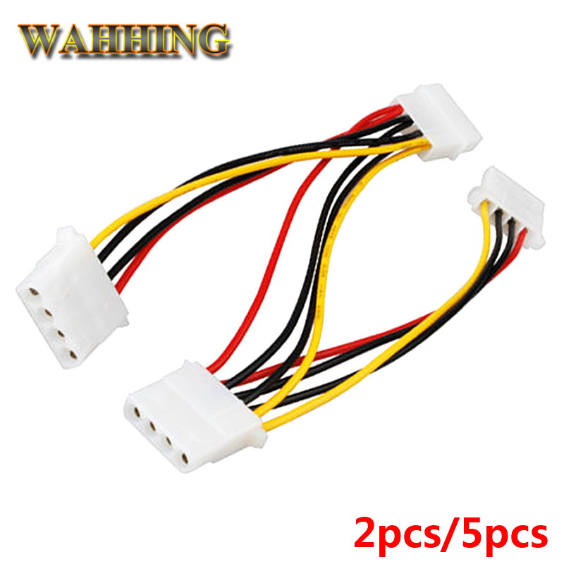 2/5x 4 Pin Molex Male to 3 port 4Pin Molex IDE Female Power Supply Splitter Adapter Cable Computer Power Cable Connector HY1264