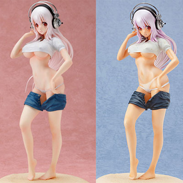 New Super Sonic Figure Headphones Sexy Anime Figure Wave Sexy PVC Figure Women Sexy Action Anime Figure Japanese Anime 25CM action figure super sonic swimsuit pvc japanese anime figure sexy girl with icebox action figure collection model toy