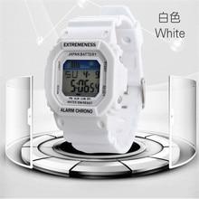 Женские цифровые спортивные часы водонепроницаемые военные часы Студенческая девушка мода будильник многоцелевые наручные часы новые часы