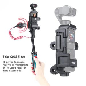 Image 2 - ULANZI OP 7 Vlog Extended Housing Case for DJI Osmo Pocket , Cage w Microphone Cold Shoe 3 GoPro Adapter for Motovlog helmet