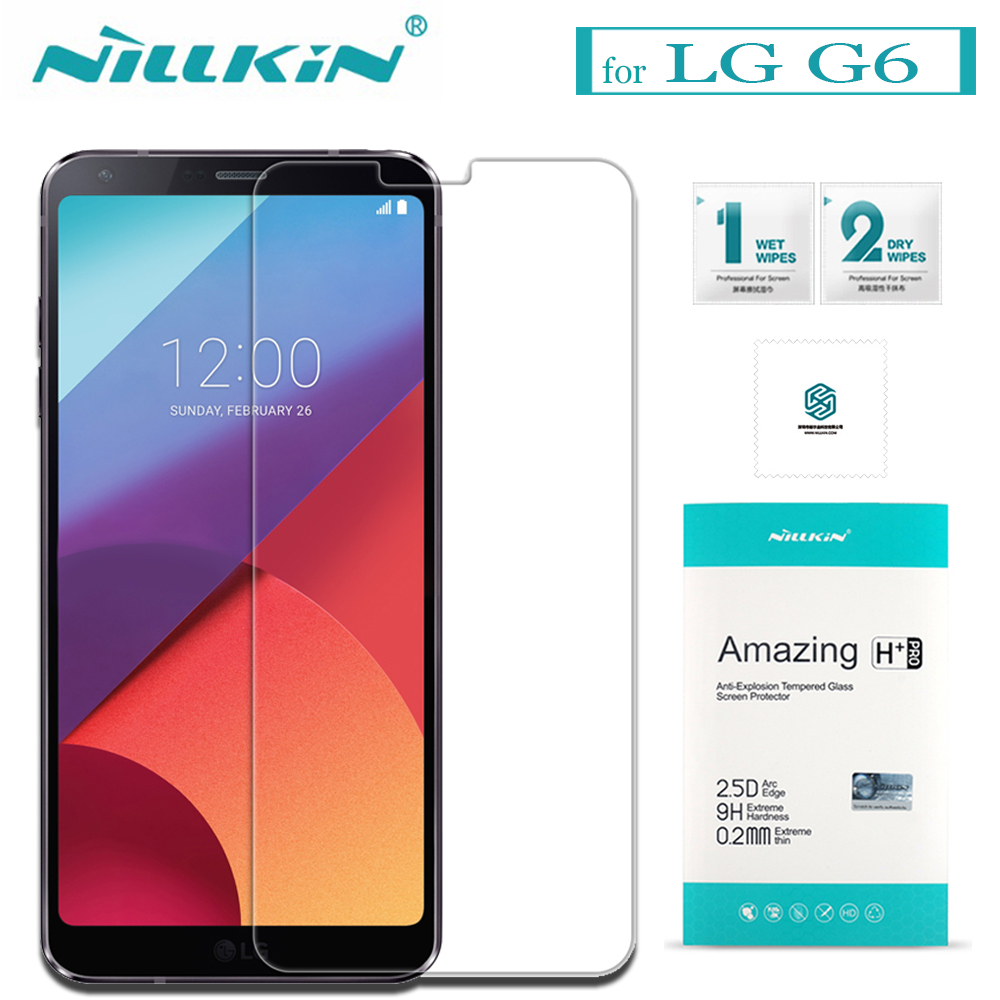Nilkin For LG G6 Tempered Glass Screen Protector Nillkin 9H Hard Anti-Explosion Amazing H / H+Pro 0.2MM Glass Film For LG G6