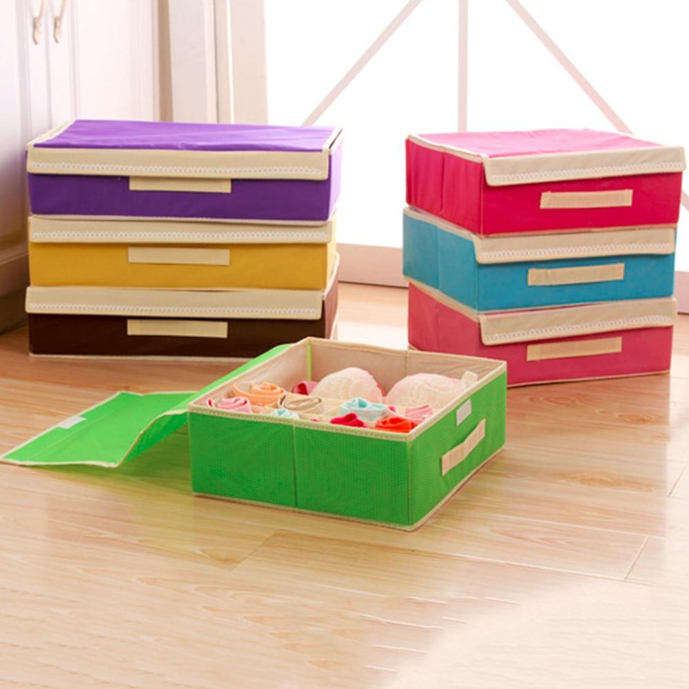 2016 high quality Bra Underwear Sock Panty Good Organizer Storage Box Bag Three Size Optional