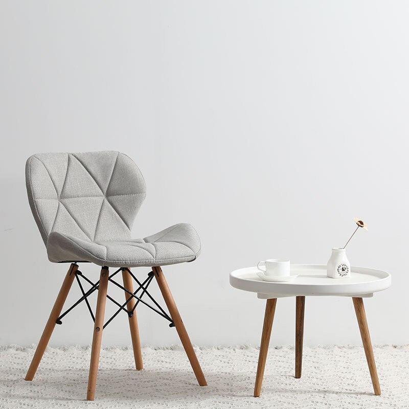 Современный минималистичный стол компьютерный стул домашний Ресторан обеденный стул из твердой древесины скандинавский диван спинка макияж пляж - Цвет: Q