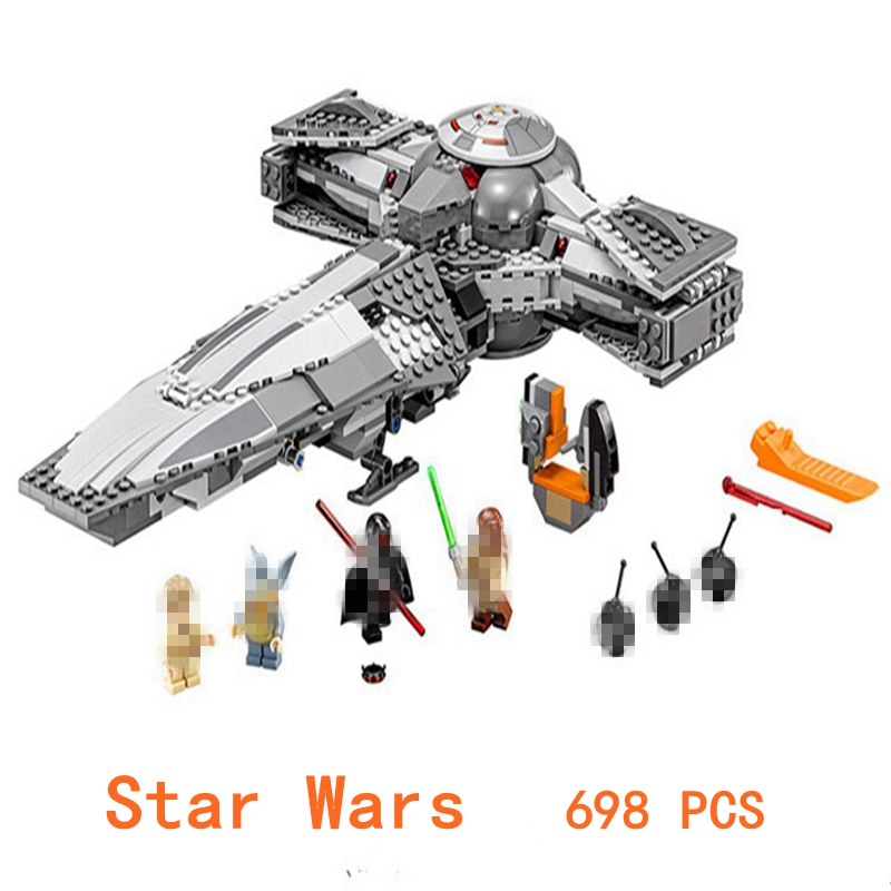 Compatible with LegoINGys Ninjagoes Star Wars Series 698Pcs 05008 Action figure Marvel Ninjagoes Building Block brick toys Gift new lepin 698pcs 05008 star wars sith infiltrator figure marvel building blocks set toys compatible legoed with 7961