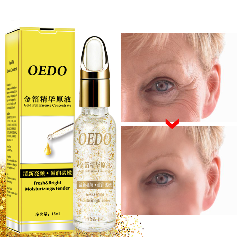 OEDO Face Gold Foil Hyaluronic Acid Serum Anti-Aging Wrinkle Lift Firming Whitening Moisturizing Acne Treatment Skin Care TSLM2